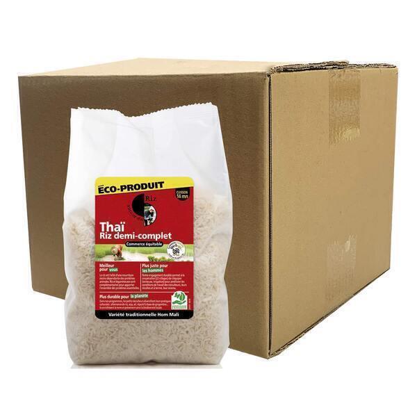 Autour du Riz - Riz Thaï 1/2 complet Commerce équitable - Colis 4 x 2 kg