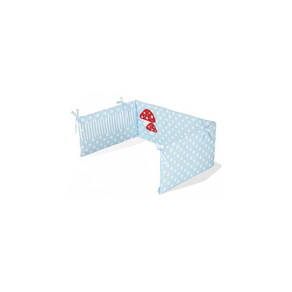 Pinolino - Tour de lit pour lits de bébé Glückspilz bleu clair