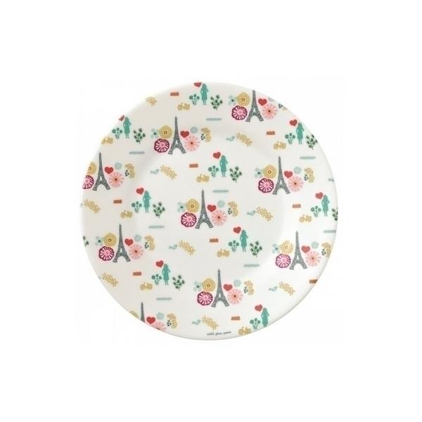 Petit Jour - assiette dessert motifs fleurs tour eiffel le paris d emilie