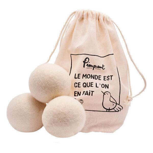 Pimpant - Set 3 balles de séchage en laine