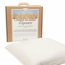 Mille oreillers - Oreiller en balles de Grand Epeautre biologique - 60 x 60 cm