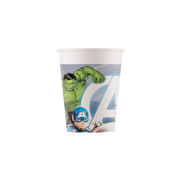 DECORATA PARTY - 8 Gobelets Avengers - Compostable