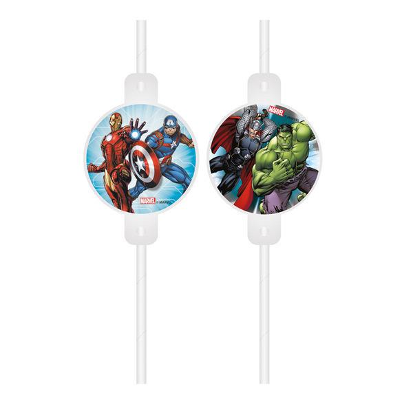 DECORATA PARTY - 4 Pailles Avengers - Recyclable