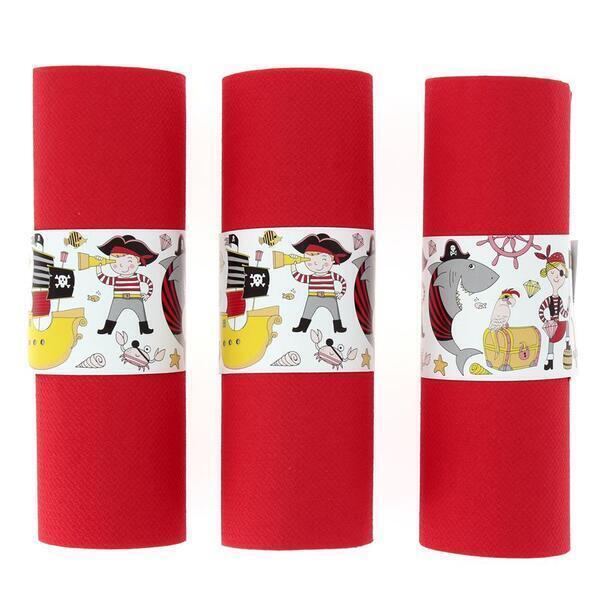 Annikids - 6 Ronds de serviettes Pirate Color - Recyclable