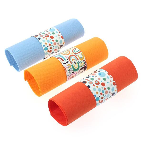 Annikids - 6 Ronds de serviettes Rainbow Dots - Recyclable