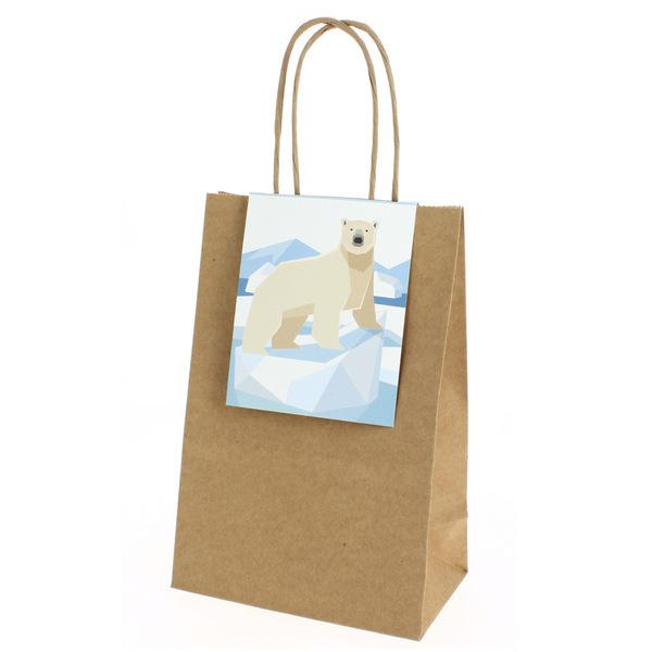 Annikids - 6 Sacs Cadeaux Animaux Polaires - Recyclable