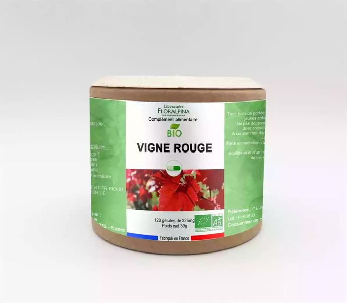 Rue des Plantes - Vigne rouge BIO 120 gélules