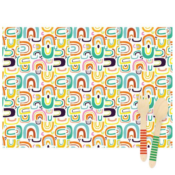 Annikids - 6 Sets de table Rainbow - Recyclable