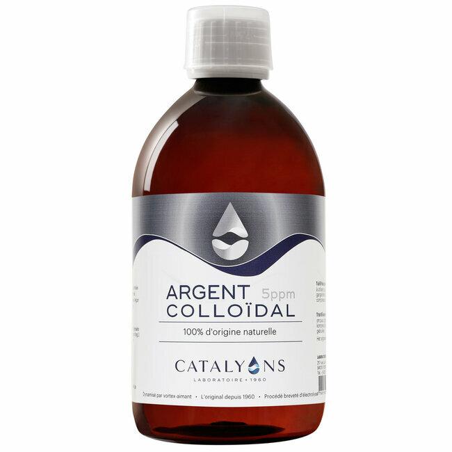 Catalyons - Argent Colloïdal 5 ppm - Antibactérien - Flacon 500 ml