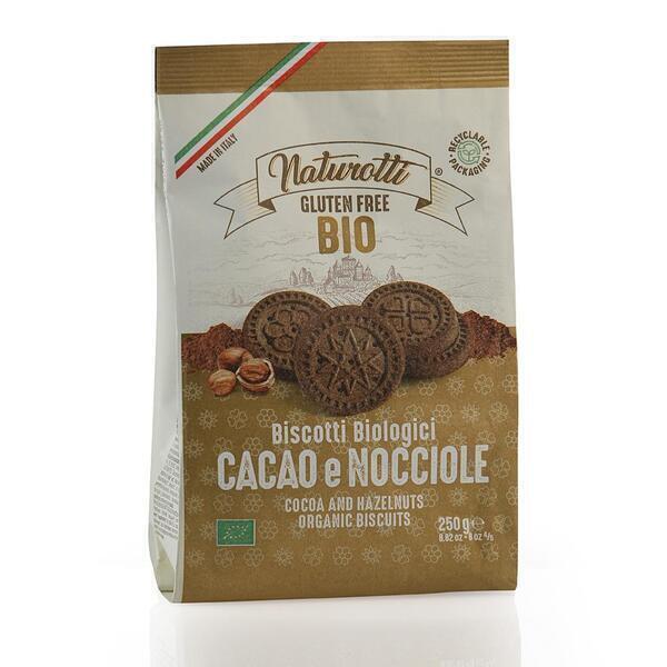 Saveurs de Tosca - Biscuits BIO au cacao et aux noisettes Pasta Natura - 250 gr ita