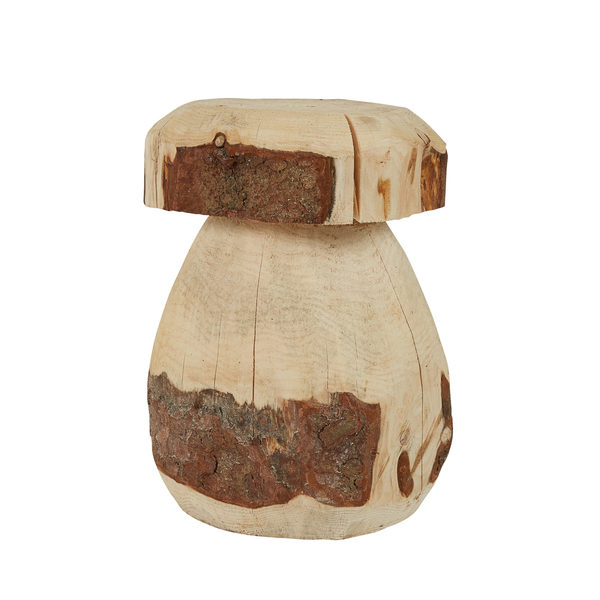 Grenier Alpin - Tabouret champignon rustique en bois Ø 35 cm