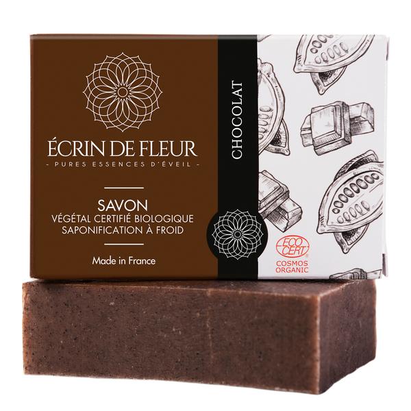 Écrin de fleur - Savon Bio Chocolat sans huiles essentielles 100g