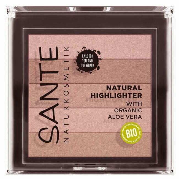 Sante Naturkosmetik - Highlighter Nude n°1 - illuminateur de teint naturel - 7g