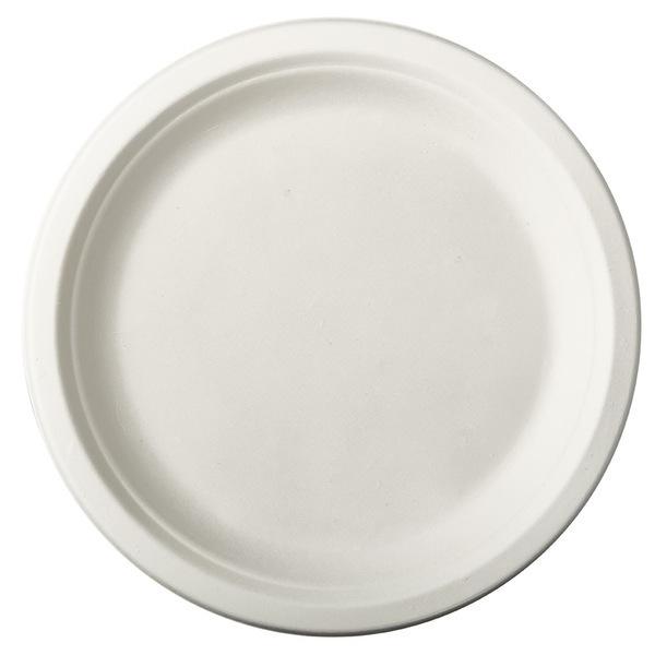 PAPSTAR - 12 Assiettes en Canne a Sucre - Blanc