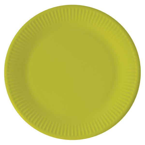 DECORATA PARTY - 8 Assiettes Vert Anis - Compostable