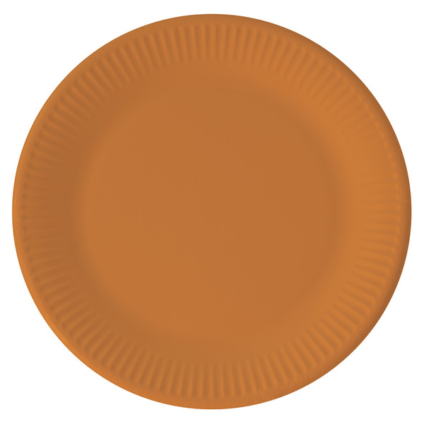 DECORATA PARTY - 8 Assiettes Orange - Compostable