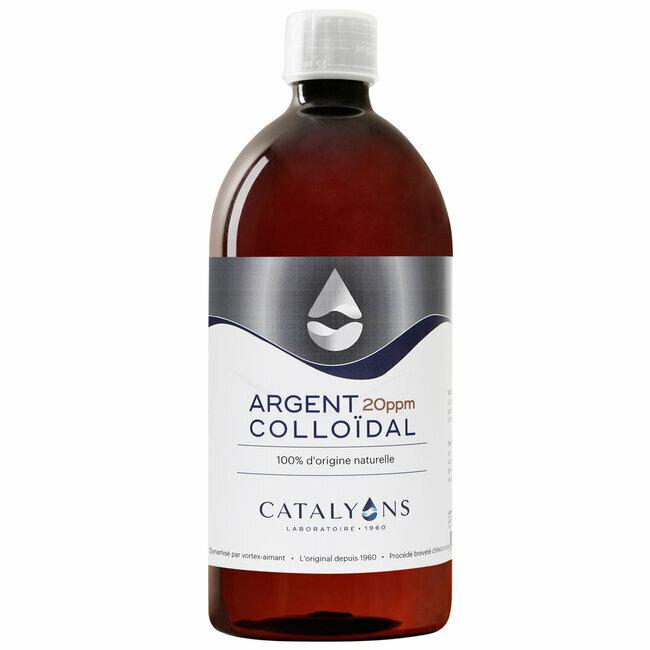 Catalyons - Argent Colloïdal 20 ppm - Antibactérien - Flacon 1 L