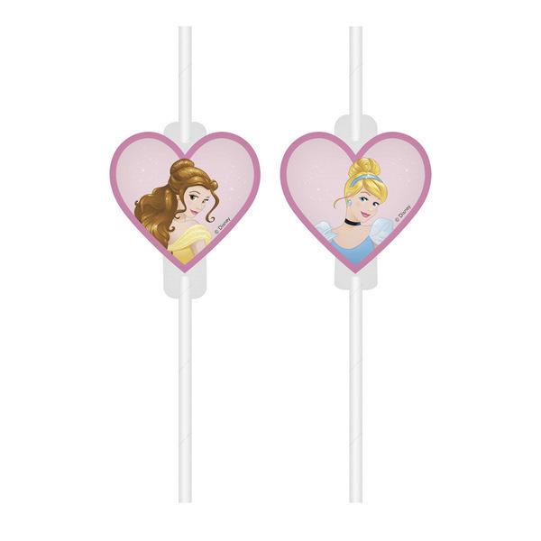 DECORATA PARTY - 4 Pailles Princesses Disney Dreaming - Recyclable