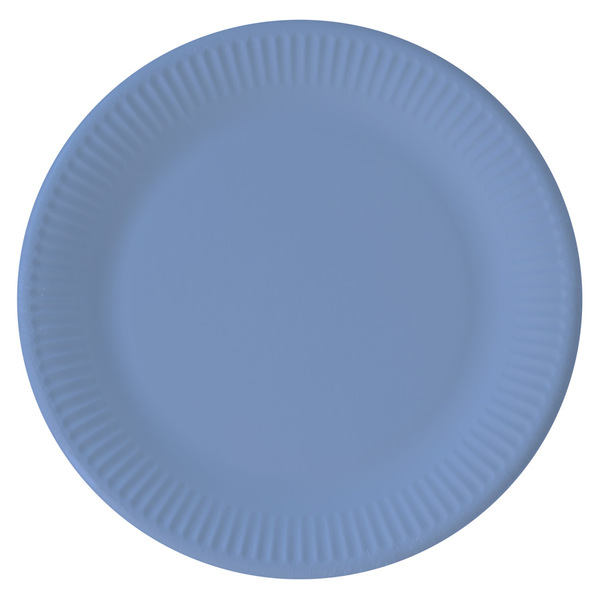 DECORATA PARTY - 8 Assiettes Bleu - Compostable
