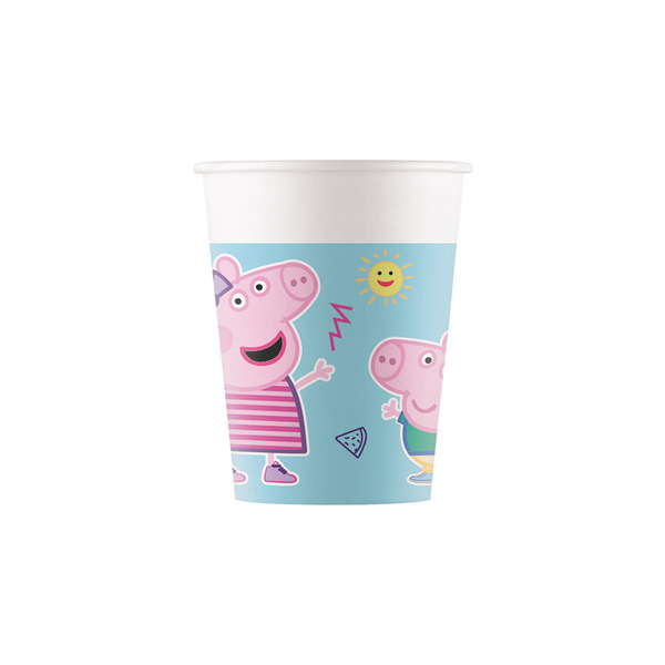 DECORATA PARTY - 8 Gobelets Peppa Pig - Compostable