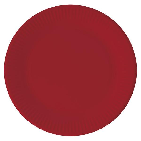 DECORATA PARTY - 8 Assiettes Rouge - Compostable
