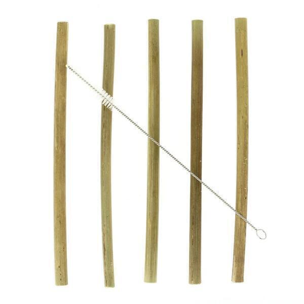 PAPSTAR - 12 Pailles réutilisables - Bambou