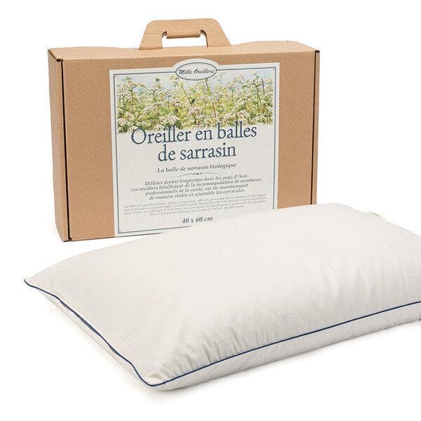 Mille oreillers - Oreiller en balles de Sarrasin biologique - 40 x 60 cm