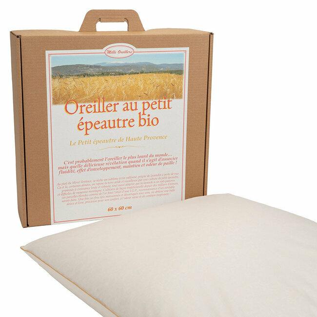 Mille oreillers - Oreiller au Petit épeautre bio de Haute Provence - 60 x 60 cm