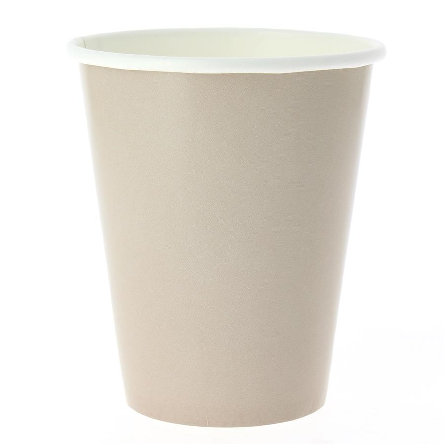 EXCLUSIVE TRADE - 8 Gobelets Compostable Taupe