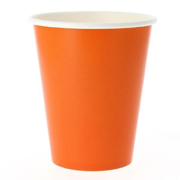 EXCLUSIVE TRADE - 8 Gobelets Compostable Orange