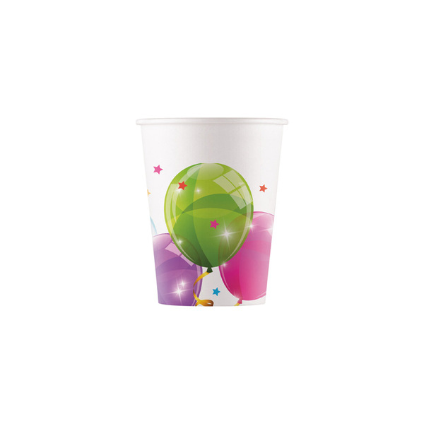 DECORATA PARTY - 8 Gobelets Ballons - Compostable