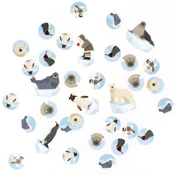 Annikids - Confettis Animaux Polaires - Recyclable