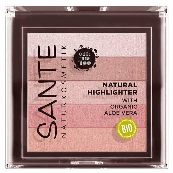 Sante Naturkosmetik - Highlighter Rose n°2 - illuminateur de teint naturel - 7g