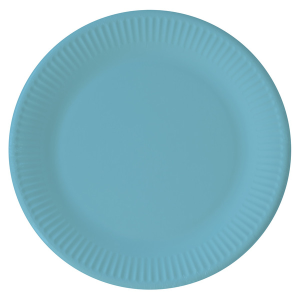 DECORATA PARTY - 8 Assiettes Turquoise - Compostable