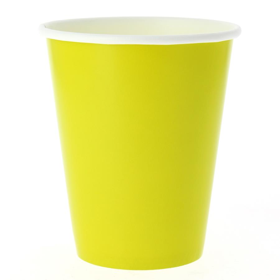 EXCLUSIVE TRADE - 8 Gobelets Compostable Vert Lime