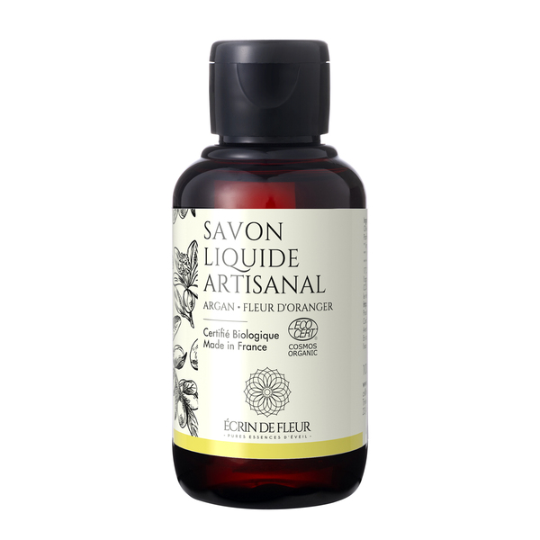 Écrin de fleur - Savon Liquide Bio Argan-Fleur d'Oranger 1x100ml