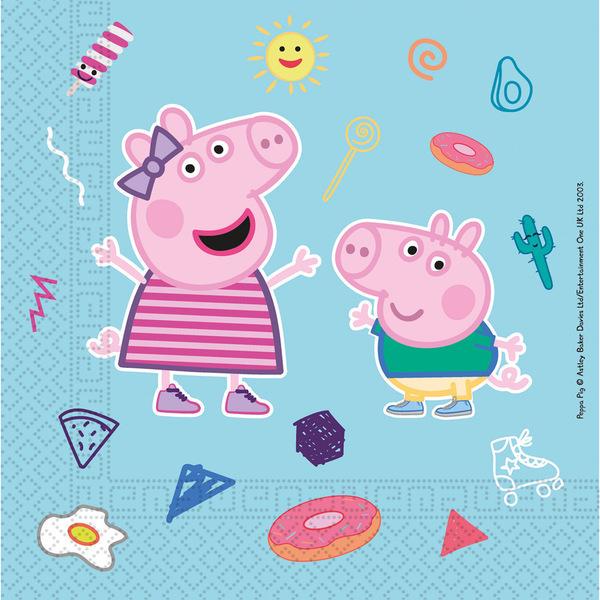 DECORATA PARTY - 20 Serviettes Peppa Pig - Compostable