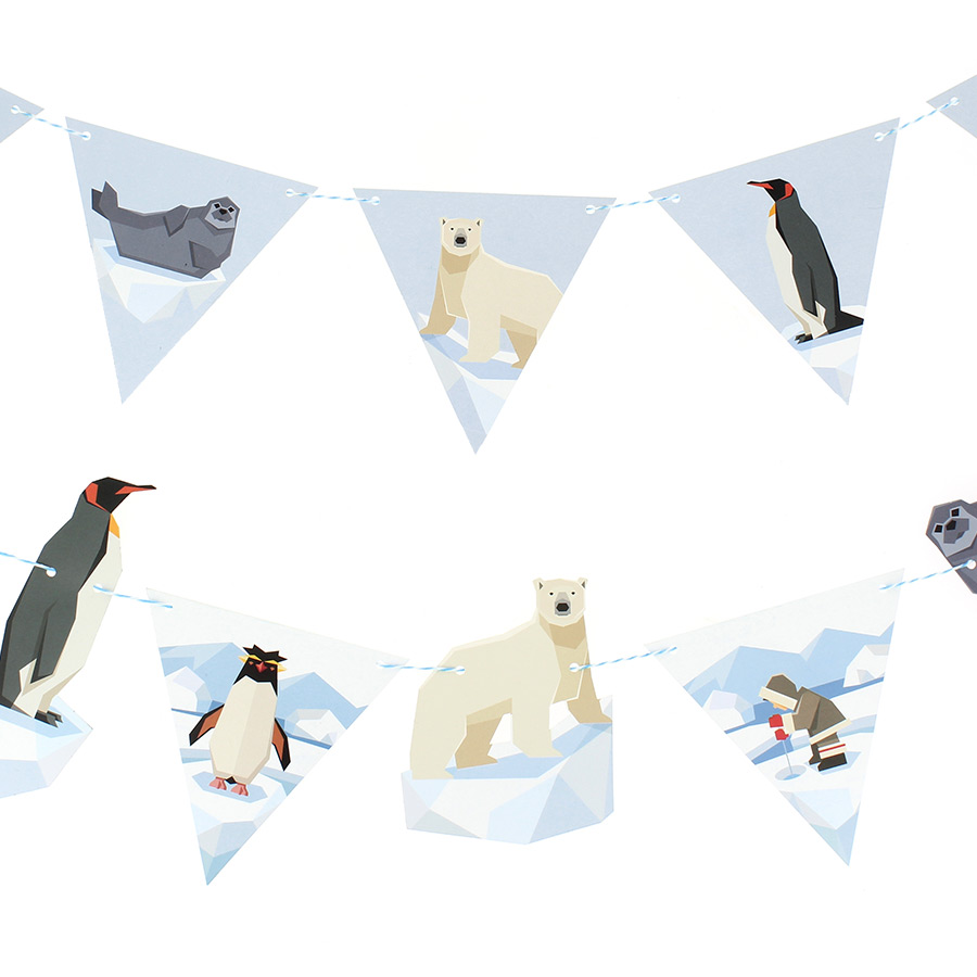 Annikids - Guirlande Animaux Polaires - Recyclable