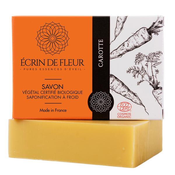 Écrin de fleur - Savon Bio Carotte sans huiles essentielles 100g