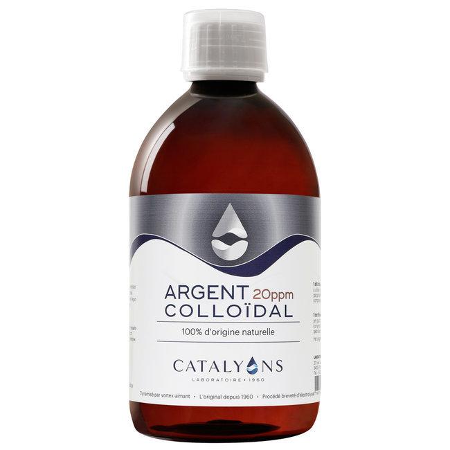 Catalyons - Argent Colloïdal 20 ppm - Antibactérien - Flacon 500 ml