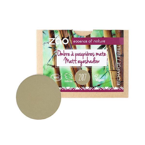 Zao MakeUp - Recharge Ombre à paupières mate 207 Vert olive