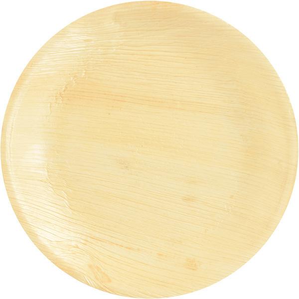 PAPSTAR - 25 Assiettes Rondes ( 23 cm) - Feuille de Palmier