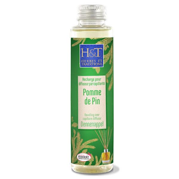 Herbes et Traditions - Recharge pour diffuseur par capillarite Pomme de pin - 100ml