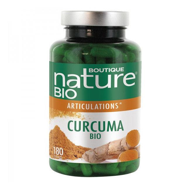 Boutique Nature - Curcuma bio - Articulations - Format éco 180 gélules