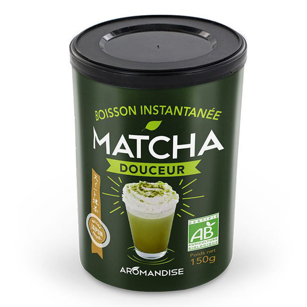 Aromandise - Matcha Douceur - Boisson instantanée bio - 150g