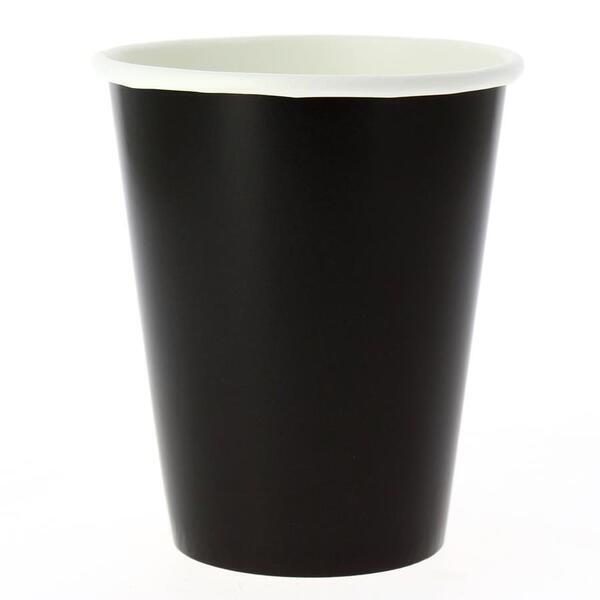 EXCLUSIVE TRADE - 8 Gobelets Compostable Noir