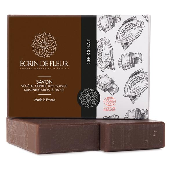 Écrin de fleur - Savon Bio Chocolat sans huiles essentielles 2x100g