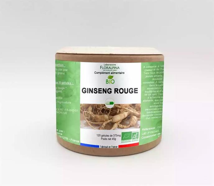 Rue des Plantes - Ginseng rouge bio 120 gélules