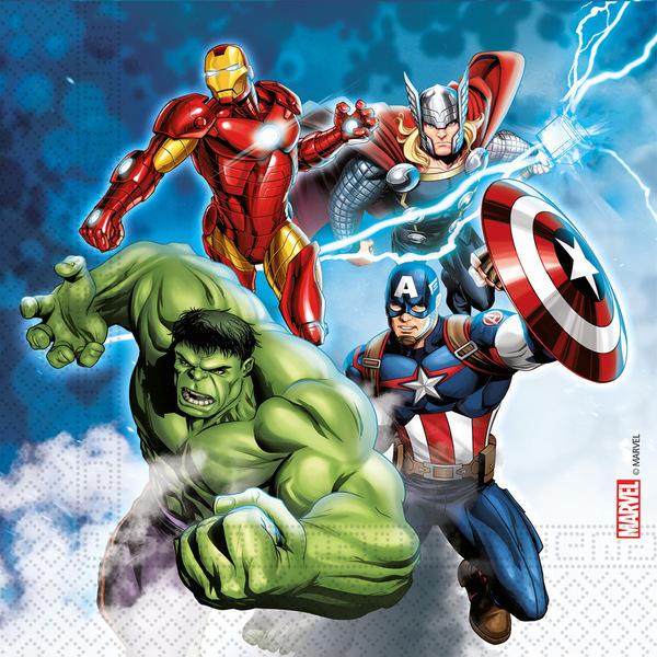 DECORATA PARTY - 20 Serviettes Avengers - Compostable