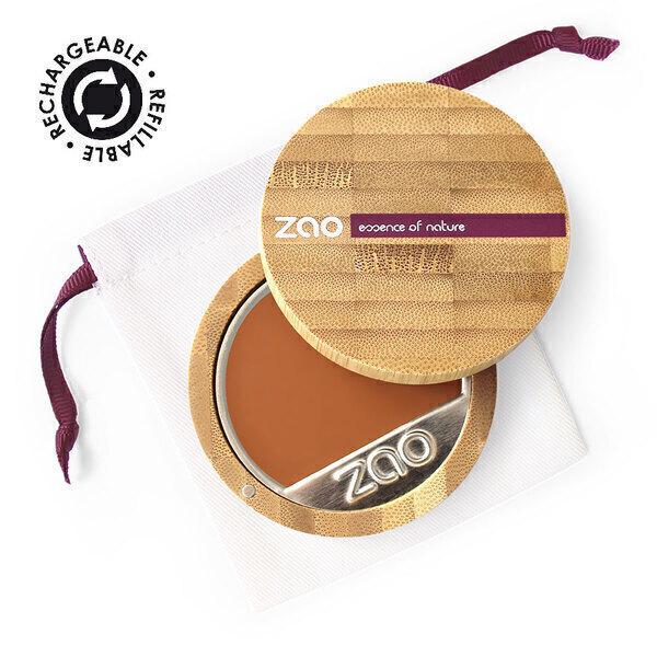 Zao MakeUp - Fond de teint compact 735 Chocolat